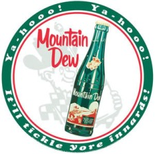 Old Mountain Dew Bottle logo