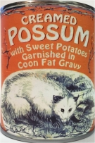 Buy one of these gag canned possum from eBay